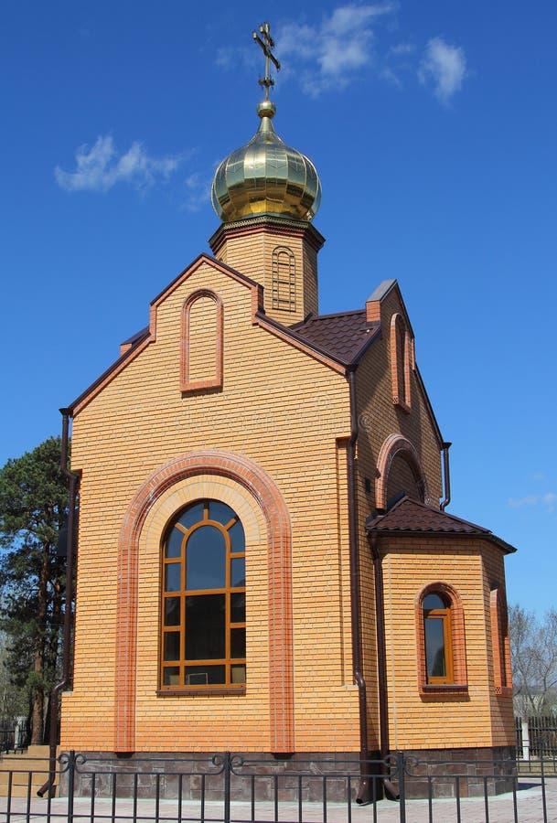 Capilla del gran mártir sagrado Ekaterina en el territorio del hospital de Minusinsk fotografía de archivo libre de regalías