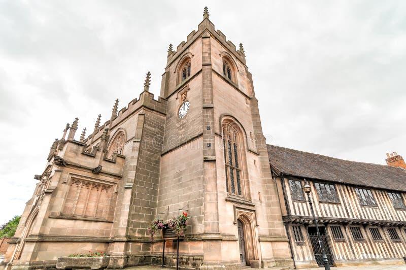 Capilla del gremio de la cruz santa de Stratford-Sobre-Avon fotos de archivo