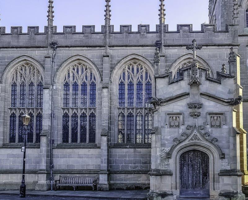 Capilla del gremio de la cruz santa en Stratford-sobre-Avon, Warwickshire, Reino Unido imagen de archivo