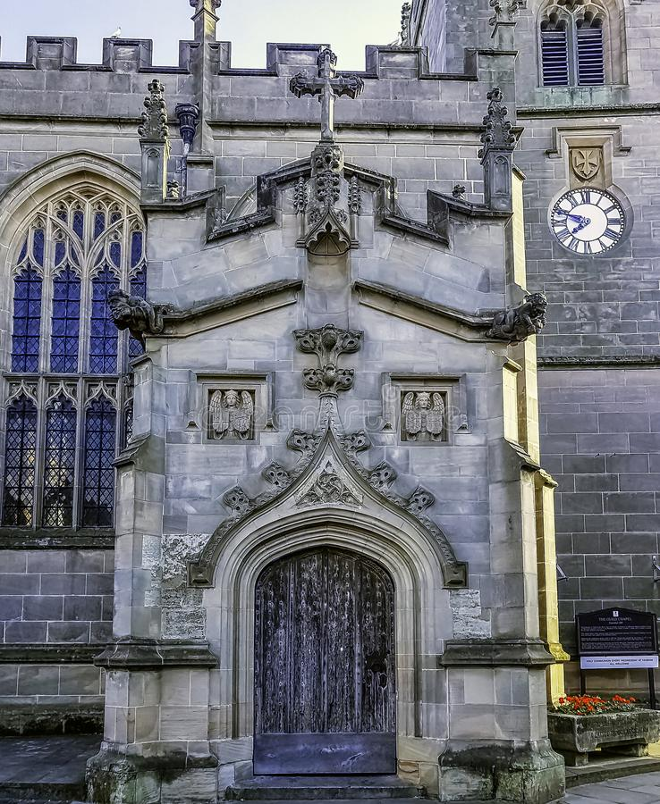 Capilla del gremio de la cruz santa en Stratford-sobre-Avon, Warwickshire, Reino Unido fotografía de archivo