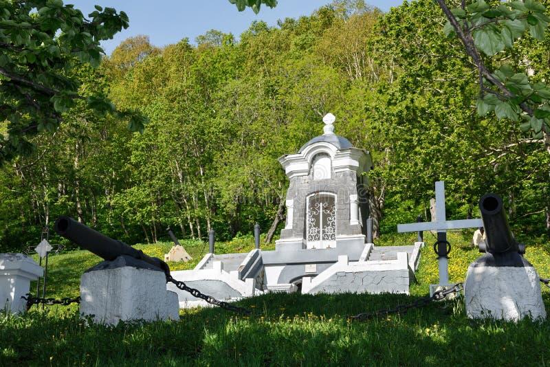 Capilla del monumento, construida en honor de la defensa acertada de Petravlosk del ataque de la escuadrilla anglofrancesa en 185 imágenes de archivo libres de regalías