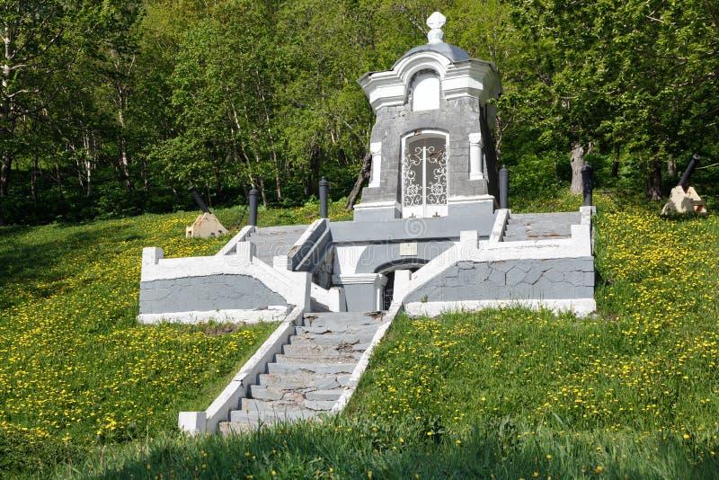 Capilla del monumento, construida en honor de la defensa acertada de Petravlosk del ataque de la escuadrilla anglofrancesa en 185 foto de archivo
