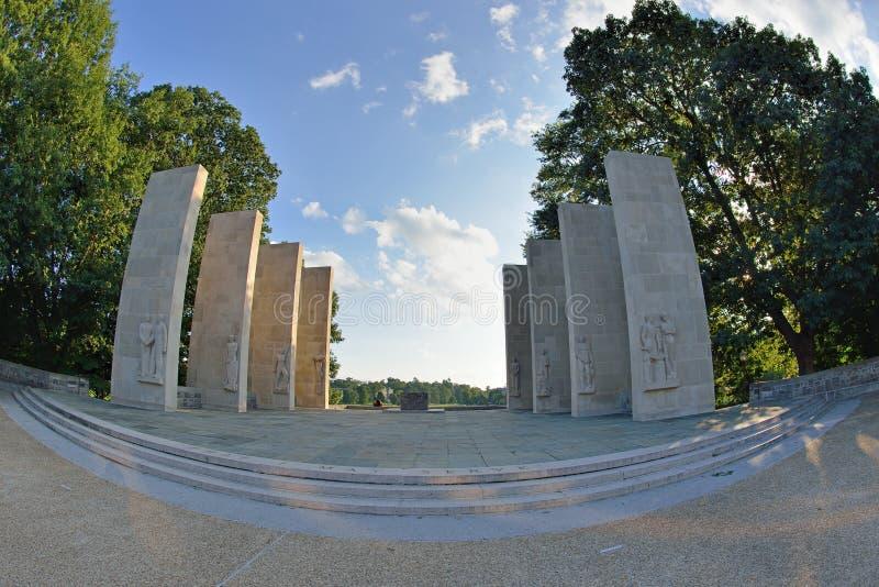 Capilla del monumento de guerra, Virginia Tech fotografía de archivo libre de regalías