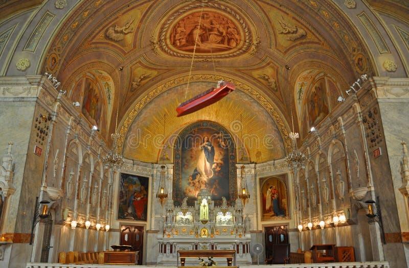 Capilla del Notre-Dama-de-Bon-Secours, Montreal, Canadá imágenes de archivo libres de regalías