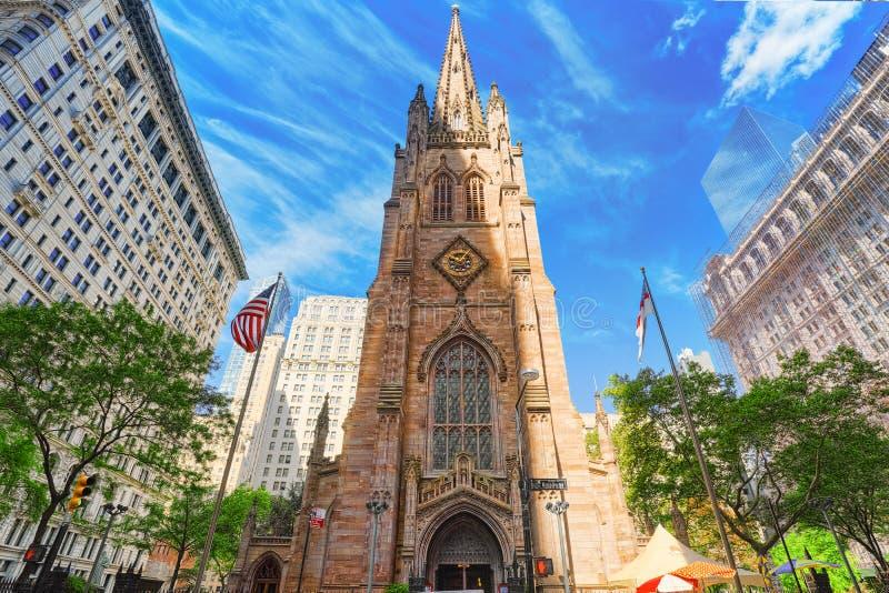 Capilla del ` s de San Pablo de la iglesia de la trinidad Wall Street en Broadway, urb imagen de archivo libre de regalías