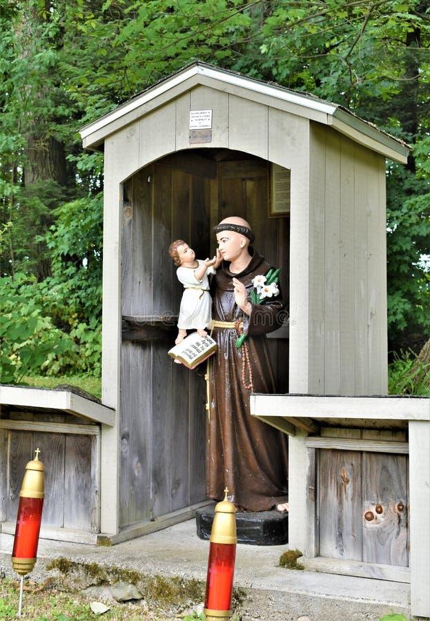 Capilla del ` s de St Anne, La Motte de la isla, el condado de Island magnífico, Vermont, Estados Unidos los E.E.U.U. Región de C fotografía de archivo libre de regalías