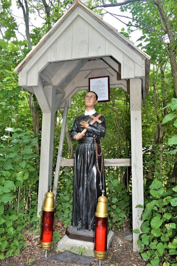 Capilla del ` s de St Anne, La Motte de la isla, el condado de Island magnífico, Vermont, Estados Unidos los E.E.U.U. Región de C imagenes de archivo