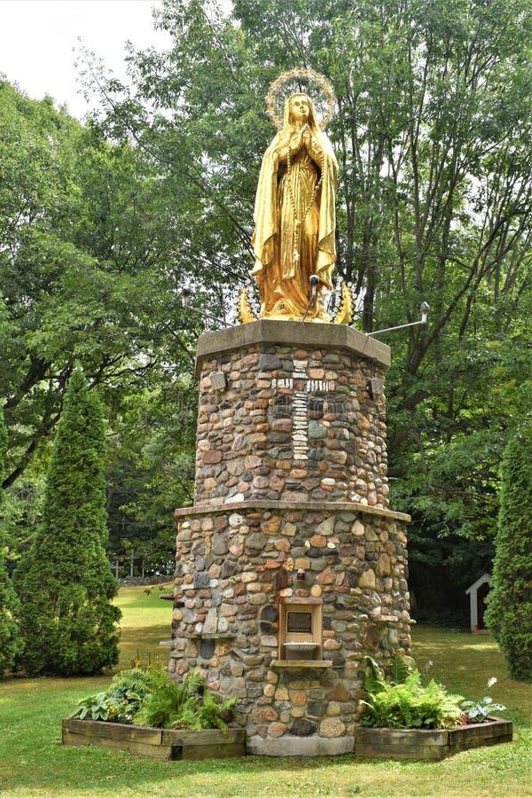Capilla del ` s de St Anne, La Motte de la isla, una isla en el lago Champlain, el condado de Island magnífico, Vermont, Estados  foto de archivo libre de regalías