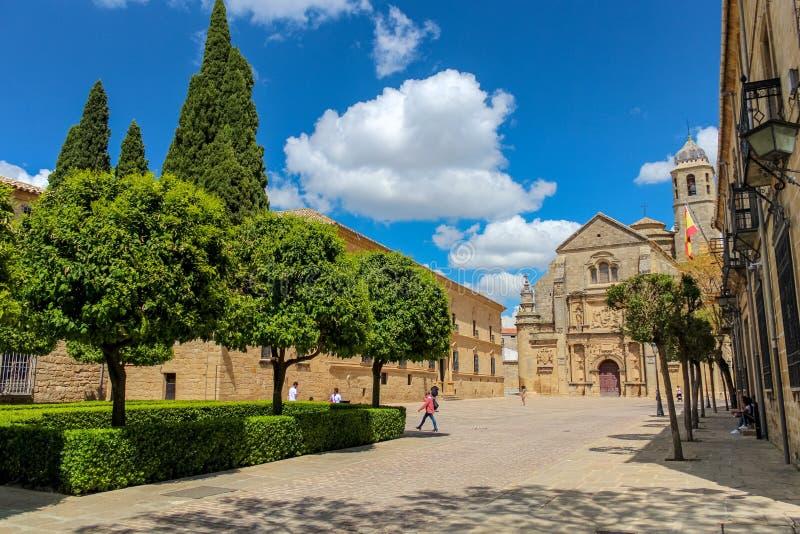 Capilla del salvador/del del Salvador, Úbeda, Jaén de Capilla de los sacros fotos de archivo