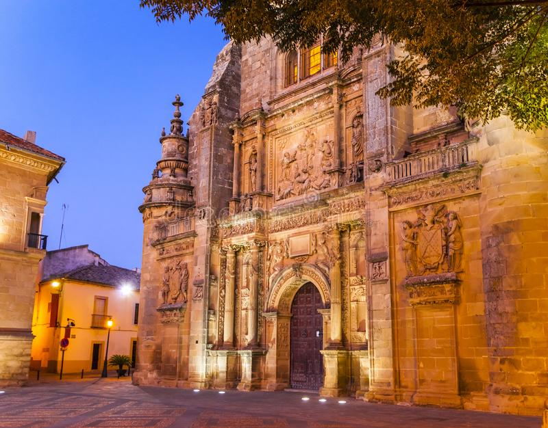 Capilla del Salvador church in Ubeda, Andalusia. The Capilla del Salvador chapel at dusk, Ubeda, Spain royalty free stock photo