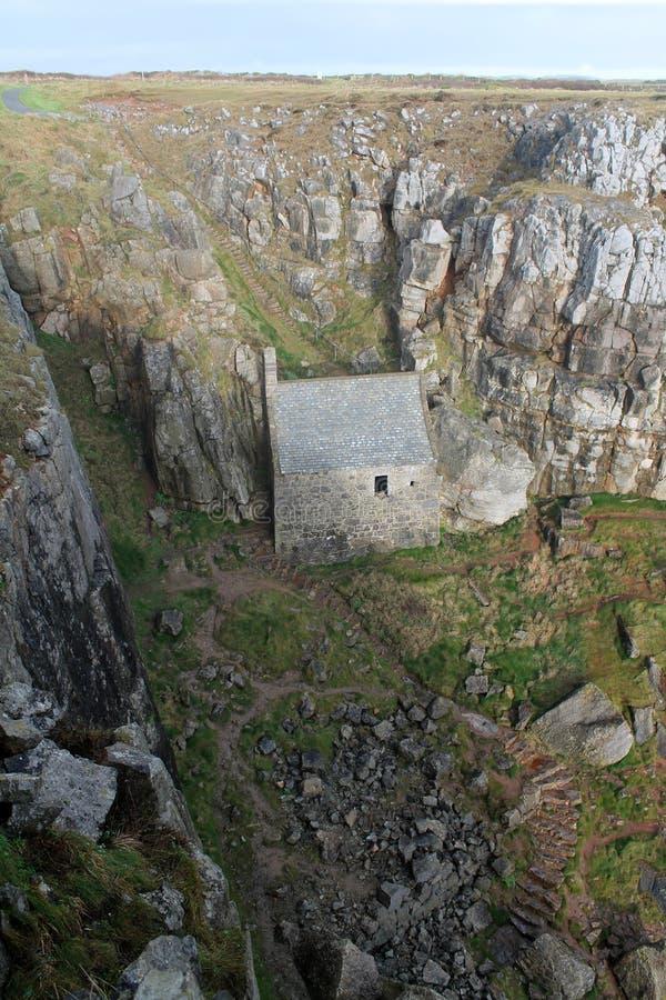 Capilla del St Govan imágenes de archivo libres de regalías
