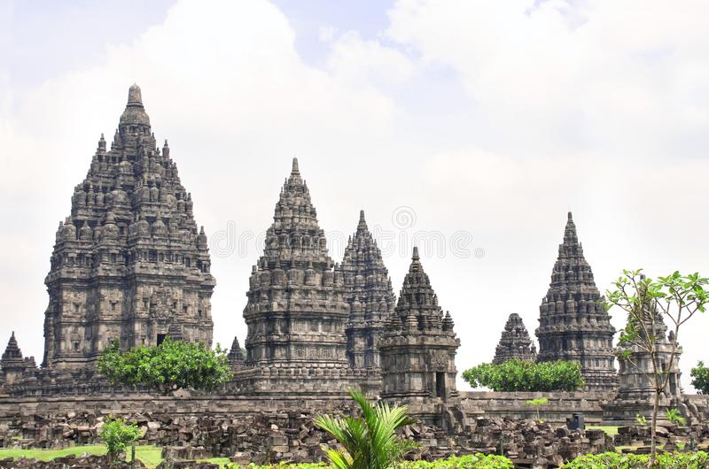 Capilla del templo hindú de Prambanan, Yogyakarta, Java, Indonesia imagen de archivo libre de regalías