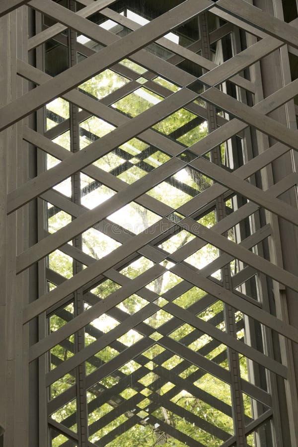 Capilla del vidrio de Thorncrown fotografía de archivo libre de regalías