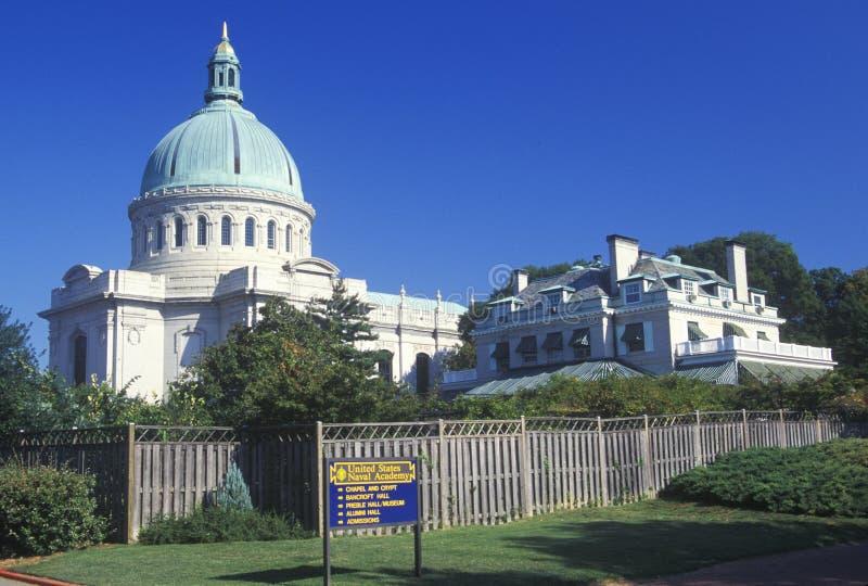 Capilla en la Academia Naval de Estados Unidos, Annapolis, Maryland imágenes de archivo libres de regalías