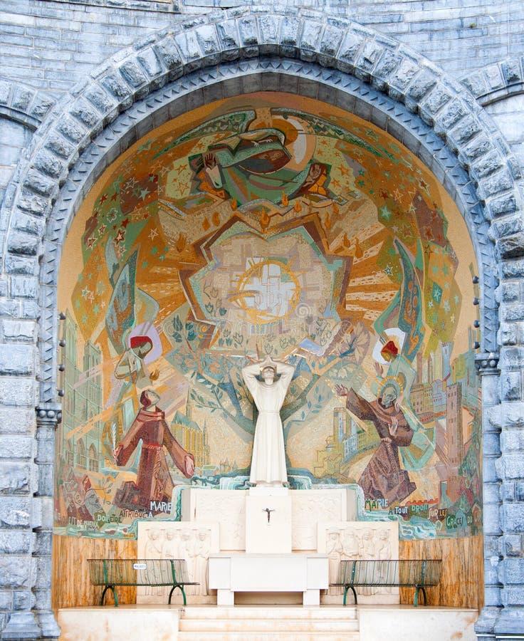 Capilla en Lourdes foto de archivo