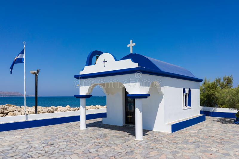 Capilla Faliraki Rhodes Greece fotos de archivo libres de regalías