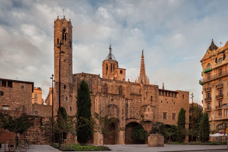 Capilla gótica de St Agatha en Barcelona imágenes de archivo libres de regalías