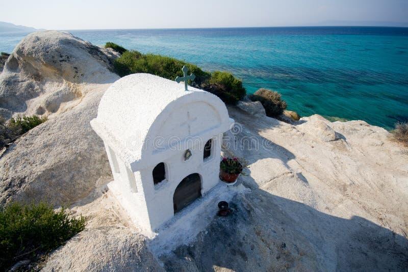 Capilla griega blanca foto de archivo libre de regalías