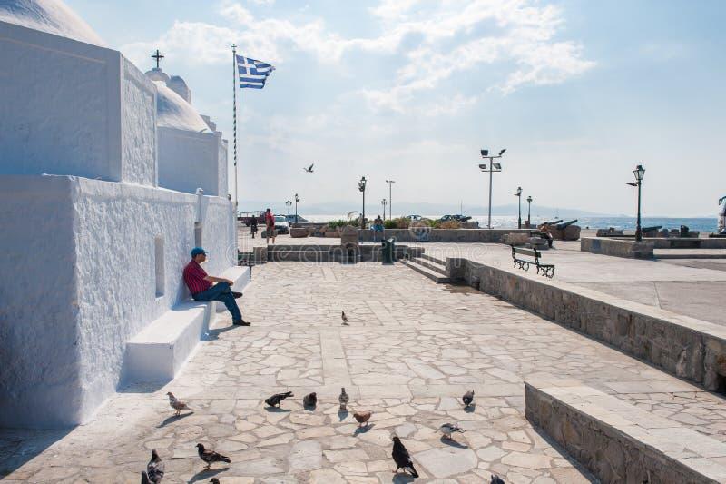 Capilla griega en Aegina imagen de archivo libre de regalías