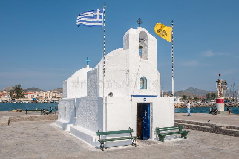 Capilla griega en Aegina foto de archivo