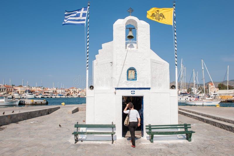 Capilla griega en Aegina fotografía de archivo libre de regalías