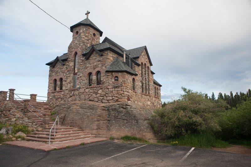 Capilla histórica en Colorado, Rocky Mountains fotografía de archivo libre de regalías