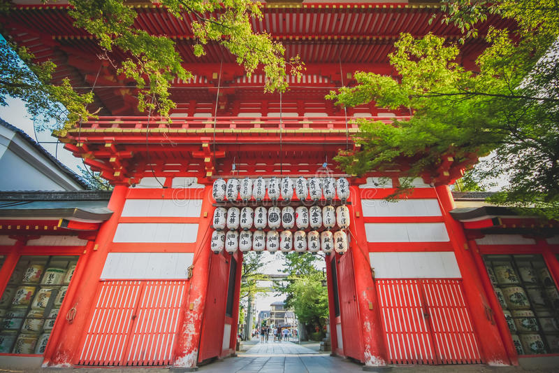 Capilla Kyoto, Japón de Yasaka fotografía de archivo