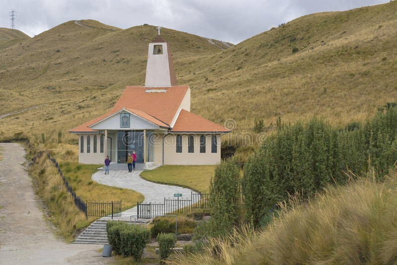 Capilla moderna en la naturaleza Quito Ecuador imágenes de archivo libres de regalías