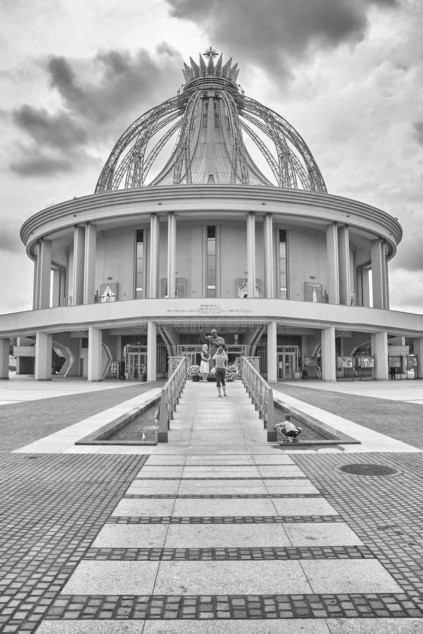 Capilla nuevamente construida de nuestra señora la estrella del nuevo Evangelization y de St Juan Pablo II imagen de archivo libre de regalías