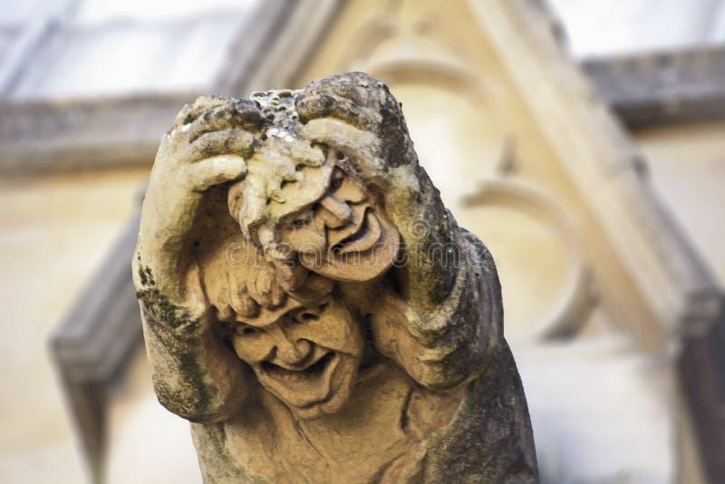 Capilla Oxford de la universidad de Gargyoyle Merton imagen de archivo