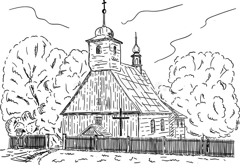 Capilla rural ilustración del vector