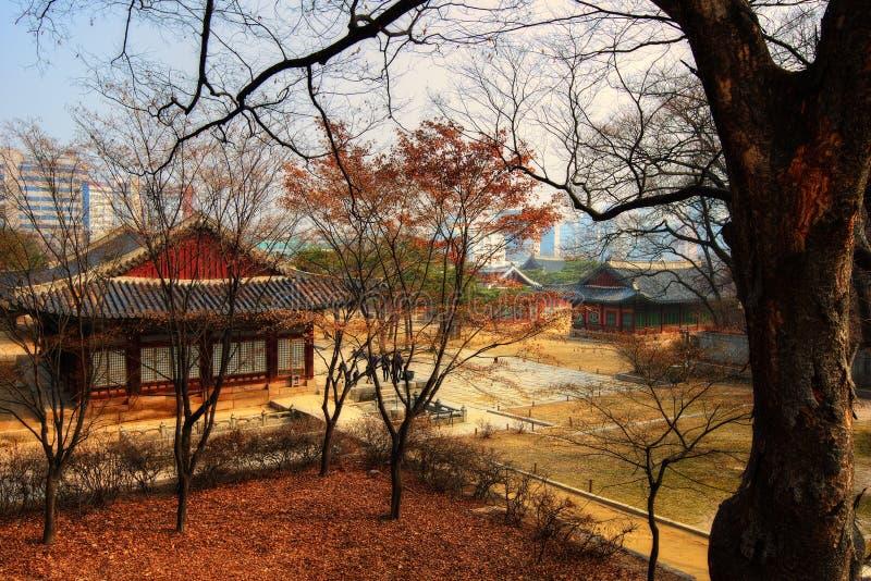 Capilla Seul Corea de Jongmyo imagenes de archivo