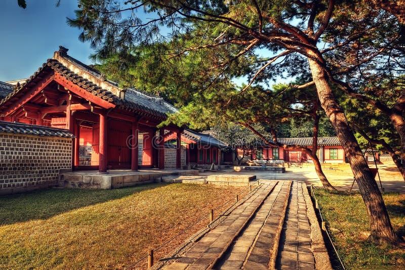 Capilla Seul de Jongmyo imagenes de archivo