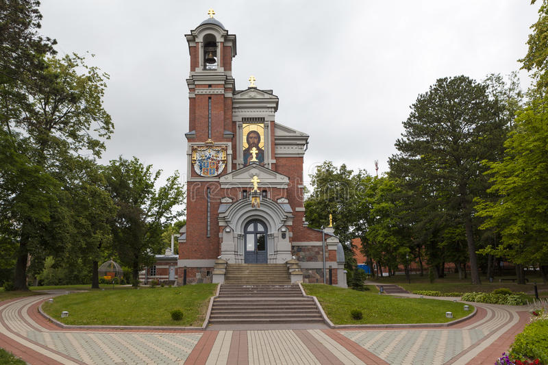 Capilla-tumba de Svyatopolk-Mirski Paz belarus imagenes de archivo