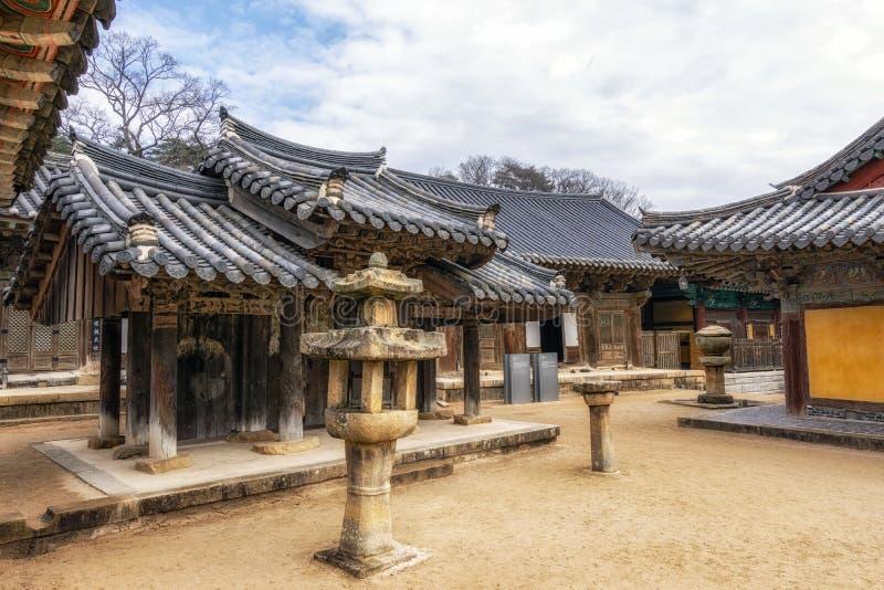Capillas del templo de Tongdosa foto de archivo