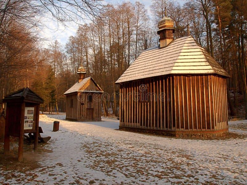 Capillas en Lagiewniki imágenes de archivo libres de regalías