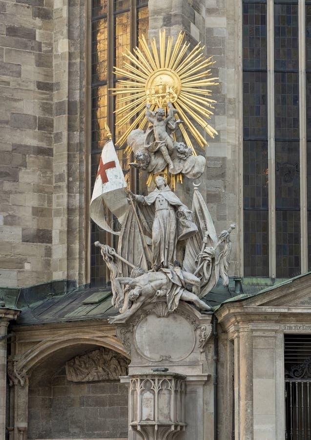 Capistran Chancel, ajacent catecomb wejście Świątobliwa Stephen katedra, Wiedeń, Austria obraz royalty free