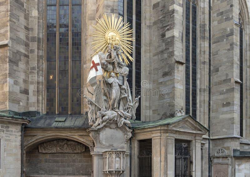 Capistran Chancel, ajacent catecomb wejście Świątobliwa Stephen katedra, Wiedeń, Austria fotografia royalty free