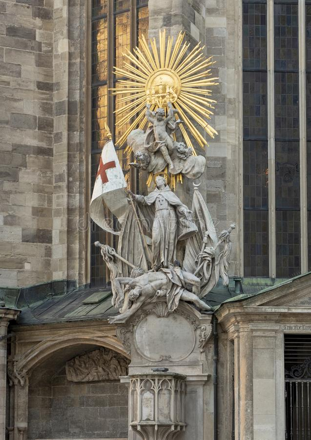 The Capistran Chancel, ajacent to the catecomb entrance of Saint Stephen`s Cathedral, Vienna, Austria royalty free stock image