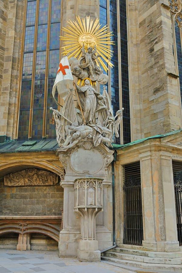 Capistran Chancel of St Stephen's Cathedral Stephansdom, Wien Wien, Österrike Österreich royaltyfri foto