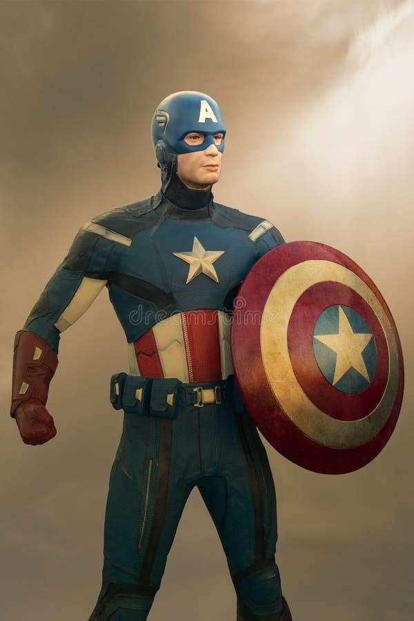 Capitán America Figurine imagenes de archivo