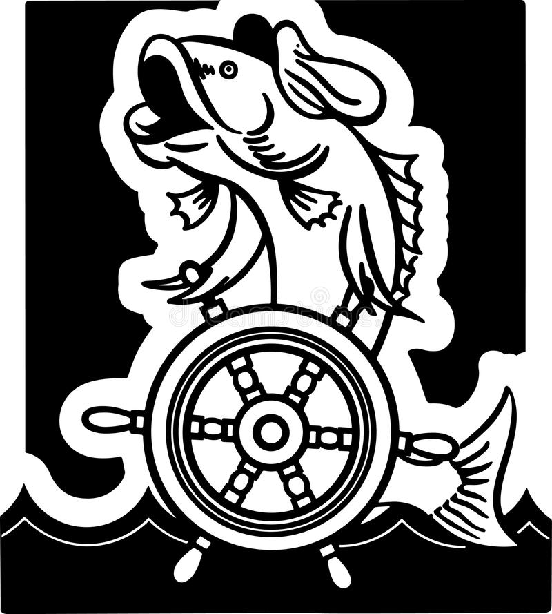 Capitán de los pescados ilustración del vector