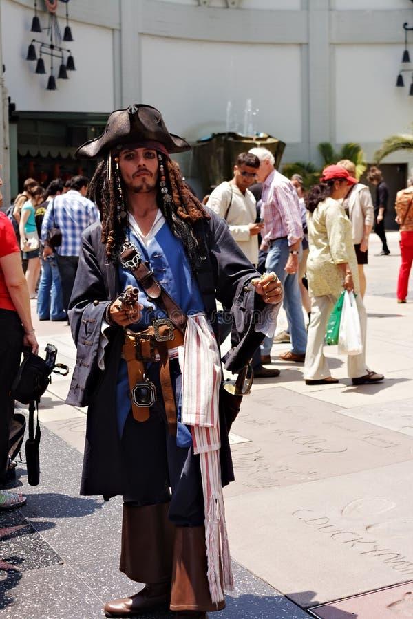 Capitán Jack Sparrow fotos de archivo libres de regalías