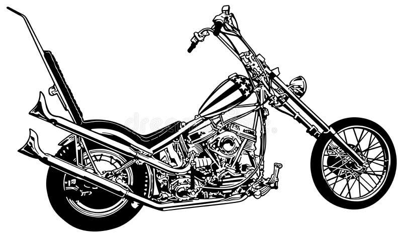 Capitão America Chopper ilustração stock