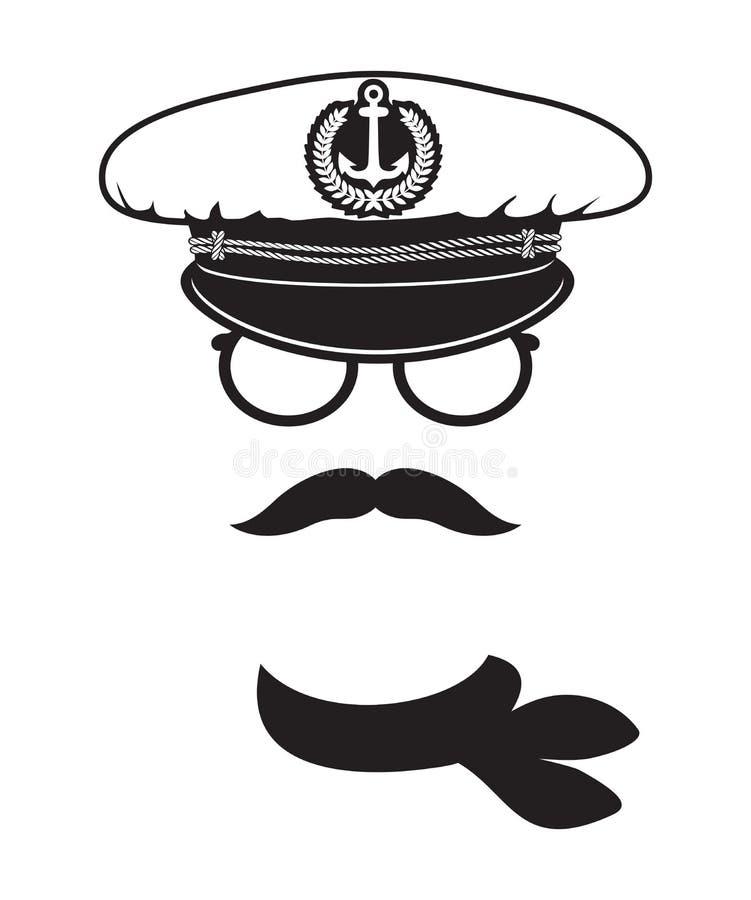 Capitão de marinha ilustração do vetor