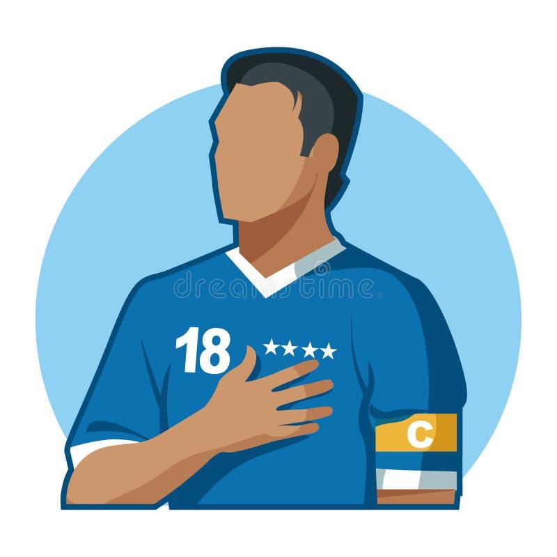 Capitão do futebol foto de stock