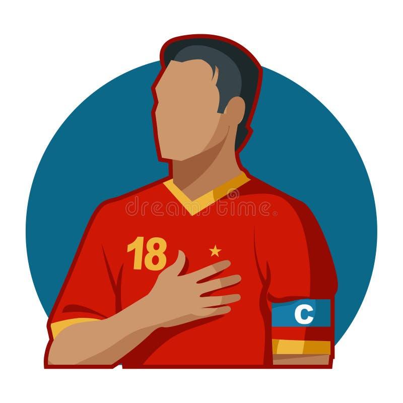 Capitão do futebol imagens de stock