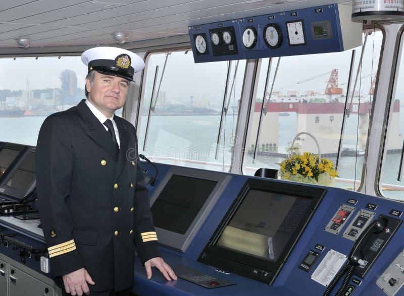 Capitão do navio do oceano imagens de stock royalty free