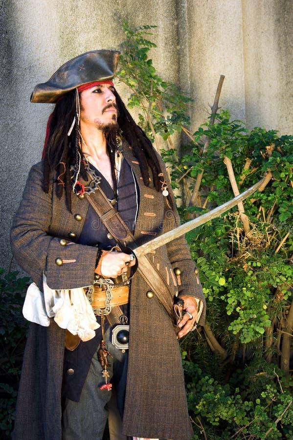 Capitão do pirata fotografia de stock royalty free