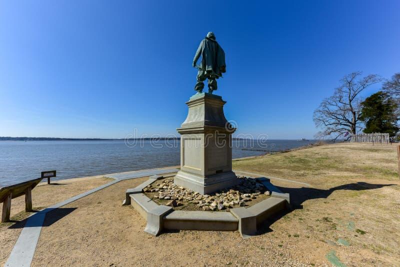 Capitão John Smith - Jamestown foto de stock